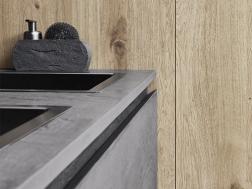 Cloe - Dark eco cement – Natural Knotted Oak